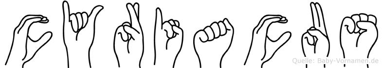 Cyriacus in Fingersprache für Gehörlose
