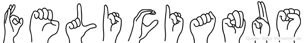 Felicianus in Fingersprache für Gehörlose