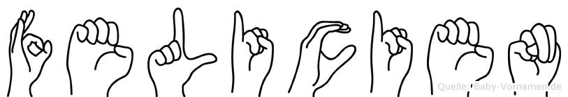 Felicien in Fingersprache für Gehörlose