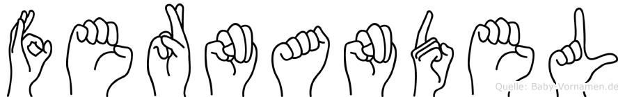 Fernandel im Fingeralphabet der Deutschen Gebärdensprache
