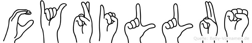 Cyrillus in Fingersprache für Gehörlose