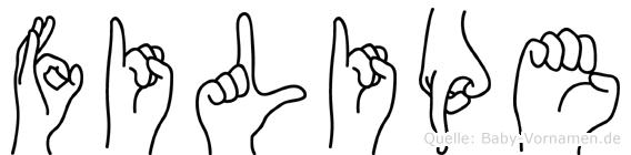 Filipe im Fingeralphabet der Deutschen Gebärdensprache