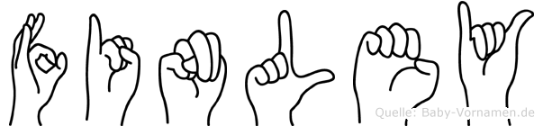 Finley in Fingersprache für Gehörlose