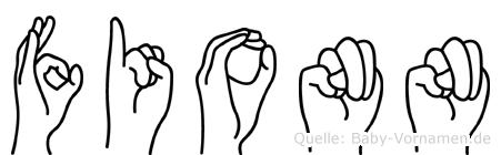 Fionn in Fingersprache für Gehörlose