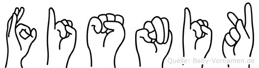 Fisnik in Fingersprache für Gehörlose
