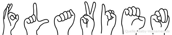 Flavien im Fingeralphabet der Deutschen Gebärdensprache