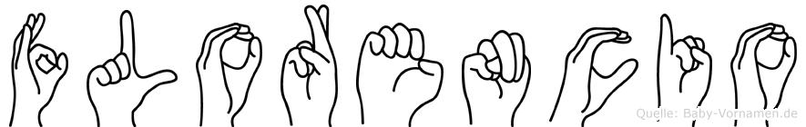 Florencio im Fingeralphabet der Deutschen Gebärdensprache
