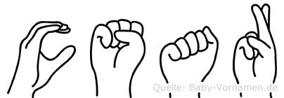 Cäsar in Fingersprache für Gehörlose