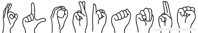 Florianus im Fingeralphabet der Deutschen Gebärdensprache