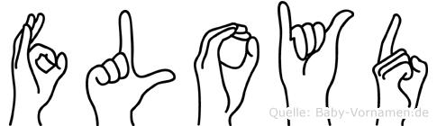 Floyd im Fingeralphabet der Deutschen Gebärdensprache