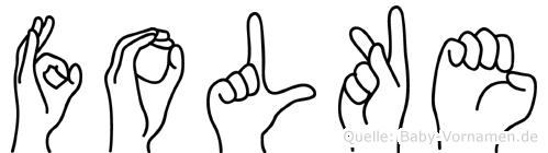 Folke in Fingersprache für Gehörlose