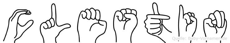 Cölestin in Fingersprache für Gehörlose