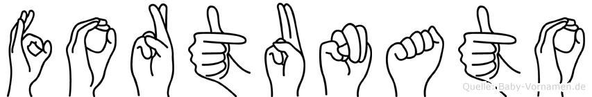 Fortunato in Fingersprache für Gehörlose