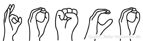Fosco im Fingeralphabet der Deutschen Gebärdensprache