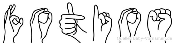 Fotios in Fingersprache für Gehörlose