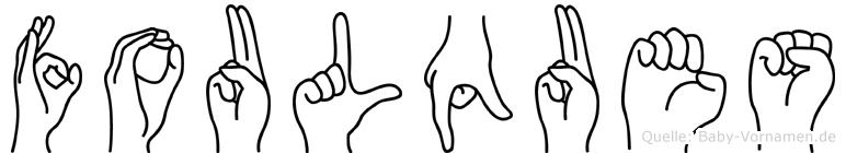 Foulques im Fingeralphabet der Deutschen Gebärdensprache