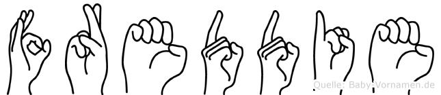 Freddie in Fingersprache für Gehörlose