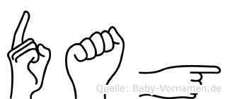 Dag in Fingersprache für Gehörlose