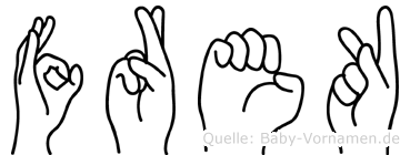 Frek in Fingersprache für Gehörlose