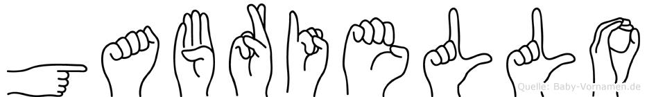 Gabriello in Fingersprache für Gehörlose