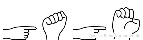 Gage in Fingersprache für Gehörlose