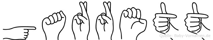 Garrett in Fingersprache für Gehörlose