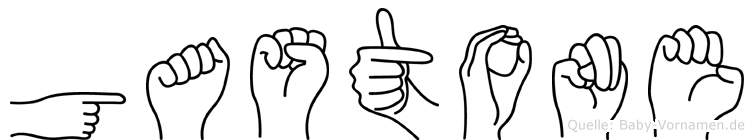 Gastone im Fingeralphabet der Deutschen Gebärdensprache
