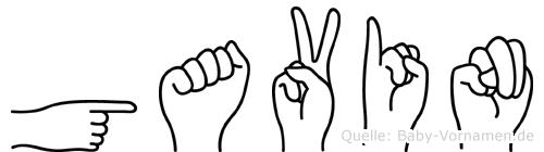 Gavin in Fingersprache für Gehörlose
