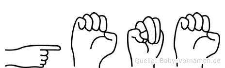 Gene in Fingersprache für Gehörlose