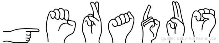 Geradus im Fingeralphabet der Deutschen Gebärdensprache