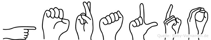 Geraldo im Fingeralphabet der Deutschen Gebärdensprache