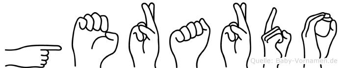 Gerardo im Fingeralphabet der Deutschen Gebärdensprache