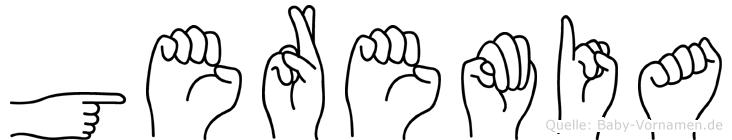 Geremia im Fingeralphabet der Deutschen Gebärdensprache