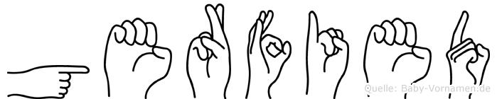 Gerfied in Fingersprache für Gehörlose