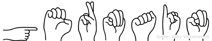 Germain im Fingeralphabet der Deutschen Gebärdensprache