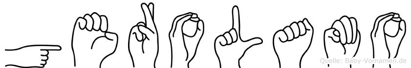 Gerolamo in Fingersprache für Gehörlose