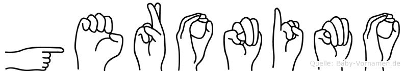 Geronimo im Fingeralphabet der Deutschen Gebärdensprache