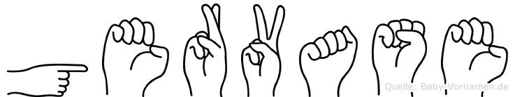 Gervase in Fingersprache für Gehörlose