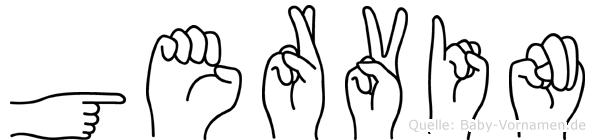 Gervin in Fingersprache für Gehörlose