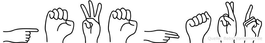 Gewehard in Fingersprache für Gehörlose