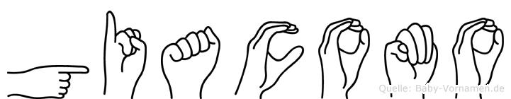 Giacomo im Fingeralphabet der Deutschen Gebärdensprache