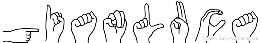 Gianluca im Fingeralphabet der Deutschen Gebärdensprache
