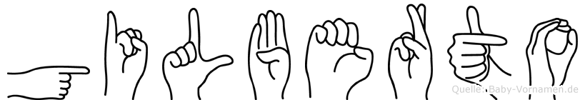 Gilberto in Fingersprache für Gehörlose