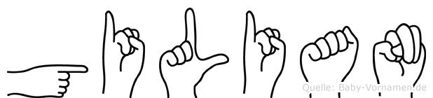 Gilian in Fingersprache für Gehörlose