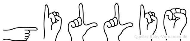 Gillis in Fingersprache für Gehörlose