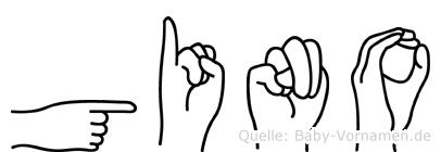 Gino im Fingeralphabet der Deutschen Gebärdensprache