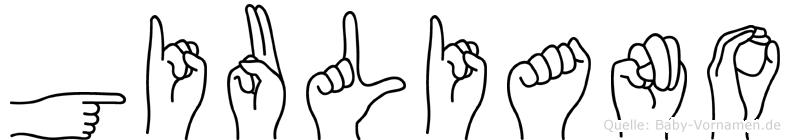 Giuliano in Fingersprache für Gehörlose