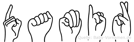 Damir im Fingeralphabet der Deutschen Gebärdensprache