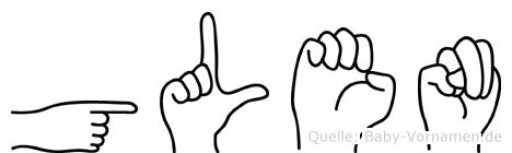 Glen in Fingersprache für Gehörlose