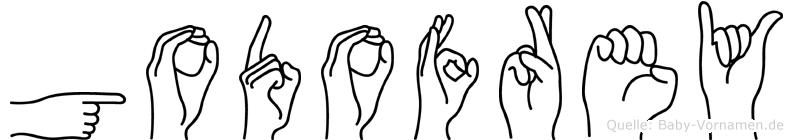 Godofrey im Fingeralphabet der Deutschen Gebärdensprache